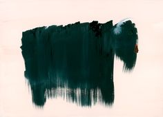 """John Lurie Bison , watercolor, ink on paper, 10""""x14"""", 2005"""