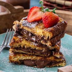Sometimes we just need to start the day with something decadent and indulgent, like this Nutella French Toast! Made with brioche bread and stuffed with Nutella, it's the perfect treat for a special breakfast-in-bed on