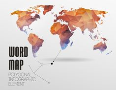 Image result for colored globe of the world all countries shown illustration of world map background in polygonal style vector background vector art clipart and stock vectors gumiabroncs Images