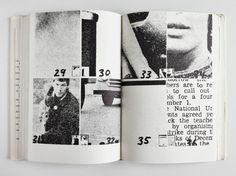"""""""Dieter Roth's 'Daily Mirror' series are the foundation for Hans-Rudolf Lutz's later newspaper experiments. Roth bound the found material of the newspaper clippings × 2 cm) into a book. Poster Design, Graphic Design Posters, Graphic Design Typography, Graphic Design Inspiration, Print Design, Editorial Layout, Editorial Design, Print Layout, Layout Design"""