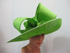 """Herald and Heart's """"Herald S41"""" - Large Brim hat w/ large self Bow -$ 589 via Samuel's Hats NYC"""