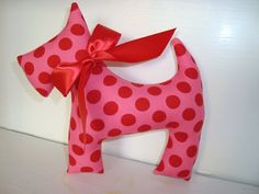 Scottie dog Pink ta dot by juliekope on Etsy, $6.50