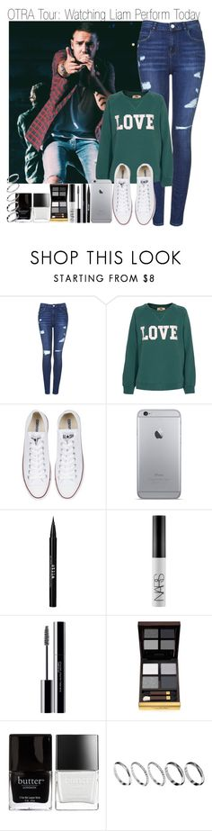 """""""OTRA Tour: Watching Liam Perform"""" by elise-22 ❤ liked on Polyvore featuring Topshop, Rika, Converse, Stila, NARS Cosmetics, shu uemura, Tom Ford, Butter London and ASOS"""
