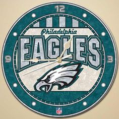 "Philadelphia Eagles 12"" Art-Glass Wall Clock"
