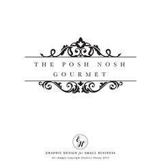 Items similar to Premade Logo Design - Flourish Top and Bottom on Etsy Branding Design, Logo Design, Graphic Design, Vintage Costume Jewelry, Vintage Costumes, Posh Nosh, Font Combinations, Bakery Logo, Elegant Logo