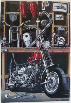 1614 best images about MOTO peinture Harley Davidson Quotes, Harley Davidson Wallpaper, Motorcycle Art, Bike Art, Tracker Motorcycle, Cool Motorcycles, Harley Davidson Motorcycles, David Mann Art, Biker Quotes