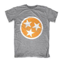 TN Flag - Orange on Gray