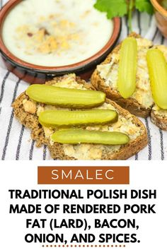 Smalec is a traditional Polish dish made of rendered pork fat (lard), bacon, onion, and spices. As with many other traditional dishes, there are countless recipes for smalec. Sometimes you will find it even with unconventional ingredients, such as apples.