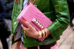 Would you like a green crocodile jacket and bag, Sorors? #powerball