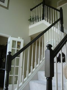 Painted Stairs Ideas #StairsIdeas White Painted Stairs Ideas