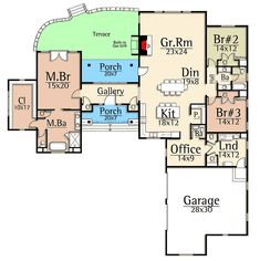 Rustic Mountain Ranch House Plan - 18846CK | Architectural Designs - House Plans