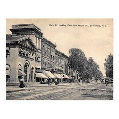 Main St. Somerville New Jersey Vintage Postcard - vintage gifts retro ideas cyo