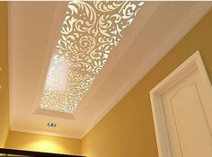 20 New Modern Collection of Creative Wall & False Ceiling Stickers Decorating Ideas _ Decor Units Decor, House Design, Room Design, Ceiling Decor, False Ceiling Design, Colored Ceiling, Modern Ceiling, Ceiling Design Modern, Dropped Ceiling