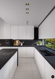 40 Beautiful Black U0026 White Kitchen Designs (Interior Design Ideas)