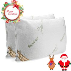 2 pack queen king hotel bamboo pillow memory foam cool comfort us