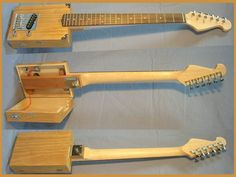 Handmade USA Pro Quality Playable Electric 6 String Cigar Box Guitar That Opens | eBay