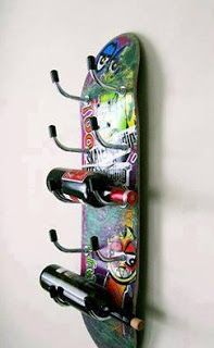 Your place to buy and sell all things handmade - Skateboard-Wine Rack hausgemachte Weinregal Weinregal Möbel Skateboard Decor, Skateboard Shelves, Skateboard Furniture, Skateboard Design, Wine Rack Design, Italian Wine, Skateboards, Decoration, Diy Furniture