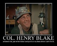 Col. Henry Blake unknown birth year - 1950. R.I.P. Brought to you by M.A.S.H. 4077 and the Capitol