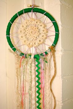 Hipster Dream Catcher // Vintage doily art
