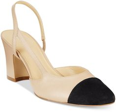 Ivanka Trump Liah Slingback Block-Heel Pumps Love the style, but feel very guilty about the brand