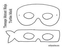 free patterns ninja turtle masks - Google Search