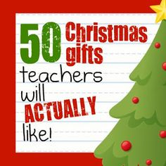 50 christmas gifts for teachers (that they will actually like)    Wish some of…