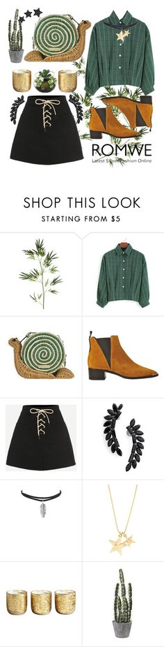 """Cowgirl time"" by echa-nadiya ❤ liked on Polyvore featuring Pier 1 Imports, Kate Spade, Acne Studios, Cristabelle, Illume, Alinka, contest, GREEN, romwe and cowgirl"