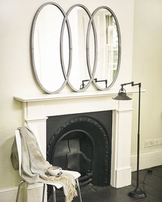 MirrorDeco - Large and contemporary decorative mirrors Silver Framed Mirror, Metal Mirror, Framed Mirrors, Silver Frames, Window Pane Mirror, Hallway Mirror, Industrial Mirrors, Industrial Style, Decorative Mirrors