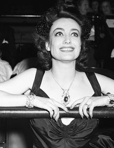 Joan Crawford, who made a trophy presentation, pictured at the opening night performance of the 57th National Horse Show at Madison Square Garden on November 7th, 1940