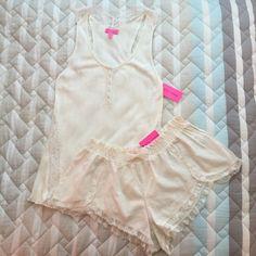 NWT Betsey Johnson Set NWT! Cream colored set - includes tank and shorts. Betsey Johnson Intimates & Sleepwear Pajamas