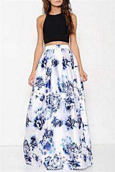 SV Floral Print Skirt