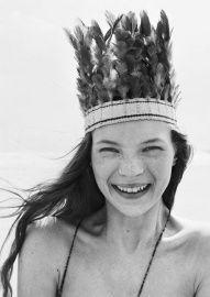 Kate Moss | zwart wit foto | kaart