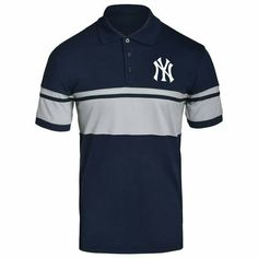 6aba83706b New York Yankees MLB Mens Cotton Stripe Polo Shirt Officially Licensed