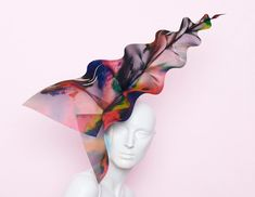 Hand-painted psychedelic leaf, £POA, Noel Stewart