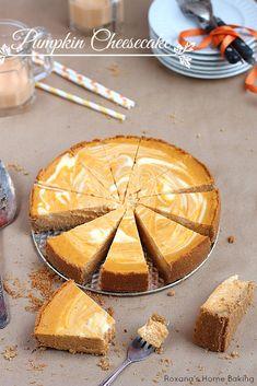 Marble pumpkin cheesecake
