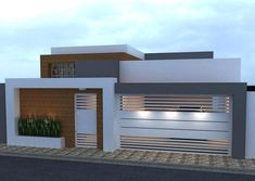 Best 12 trendy exterior house front home plans House Gate Design, Door Gate Design, House Front Design, Modern House Design, Modern Houses, Dream House Exterior, Exterior House Colors, Ranch Exterior, House Elevation