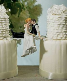The Look Of Love Wedding Cake Topper I love this...but with an umbrella thrown in there somewheree