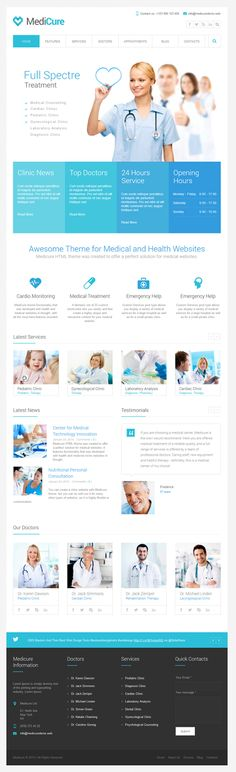 Medical Website Inspiration Web Design Ideas For 2019 Layout Web, Layout Design, Design Ideas, Medical Sites, Medical Humor, Template Web, Website Template, Ideas For Logos, Hospital Website