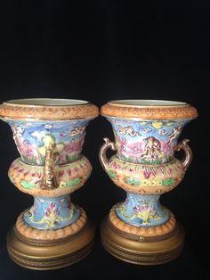 Vintage   HINODE JAPANESE  VASE Urn  Pair by CoCoBlueTreasures, $125.00