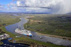 Norwegian Breakaway embarked on her conveyance along The River Ems from Papenburg, Germany to Eemshaven, The Netherlands.