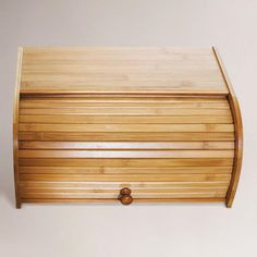 One of my favorite discoveries at WorldMarket.com: Bamboo Roll Top Bread Box