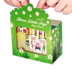 Three Little Pigs Paper Theater - PRINTED VERSION - DIY Craft Kit Paper Toy - Puppets - Birthday Party Favor on Etsy, $9.00