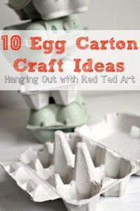 What to make from Egg Cartons - Red Ted Art and friends hangout and share some of their favourite egg carton crafts Easter Crafts, Fun Crafts, Card Crafts, Easter Ideas, Diy For Kids, Crafts For Kids, Pasta Casera, Egg Carton Crafts, Crafty Kids