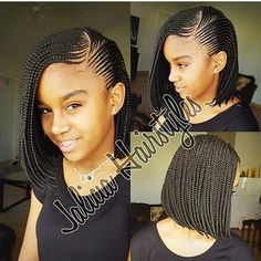 These braids are very neatly done!