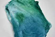 Nuno Felting, Mulberry Silk, Fiber Art, Spinning, Squares, Blue Green, Hands, Knitting, Hand Spinning