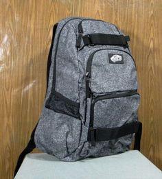 Vans Off The Wall Treflip Ash Gray Mens Backpack Laptop Pad Skateboard Carry   eBay