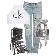 A fashion look from January 2017 featuring Calvin Klein, Monika Chiang sandals and Christian Dior handbags. Browse and shop related looks.