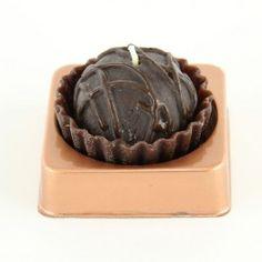 Chocolate truffle candle