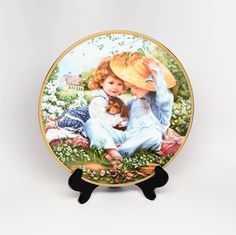 SANDRA KUCK A Time to Love Collector's Plate ~ Sandra Kuck ~ Reco Plates ~ Collector Plates ~ Bradex Collector Plates ~ Plates ~ Kuck Artist by REDSTONEVINTAGE on Etsy
