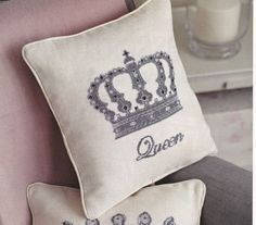 ***PLEASE NOTE: This is not a finished Product. It is an INSTANT DOWNLOAD pattern for cross stitch***  Make your home a palace - be the QUEEN at